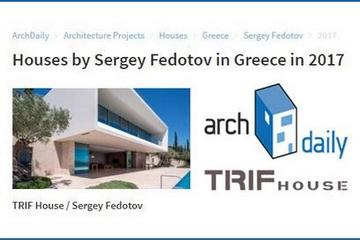TRIF-HOUSE project of a private villa in Greece is in the spotlight of ArchDaily!