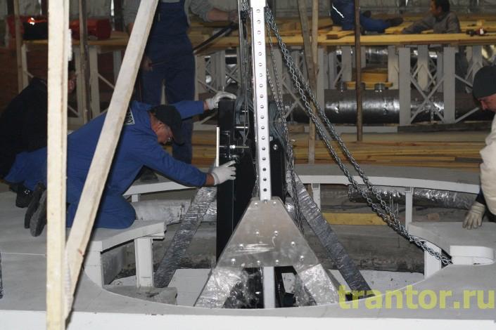 Разгрузка, такелажные и монтажные работы 75 тонн, для Московского планетария.