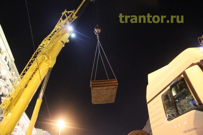 Такелаж вентиляционного оборудования 23 тонны.