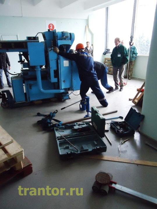 Такелаж станков 15 тонн, такелажные работы.