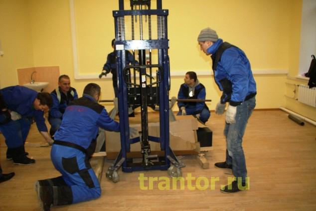 Такелажные работы, установка мраморной плиты 1300 кг