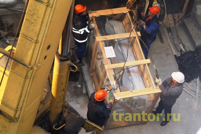 Такелаж холодильного оборудования, такелажные работы, промышленный такелаж 27 тонн.