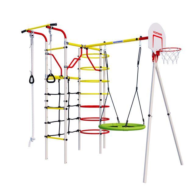 Спортивно-игровой комплекс Romana Космодром (R.103.21.04) NEW + Качели гнездо тканевые 1.Д-26.03