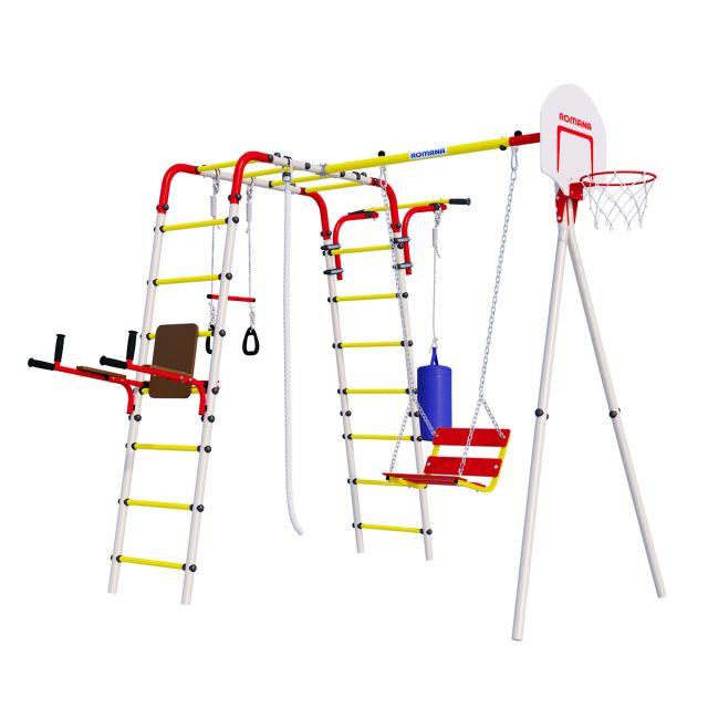 Уличный спортивный комплекс Romana FitnessR.103.20.04 + Качели цепные 1.Д-26.05