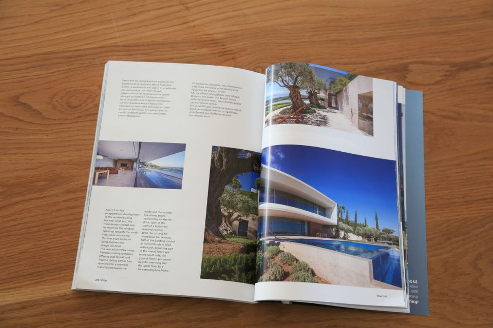 Publication in Villas magazine – an annual collection of the best architectural projects in Greece