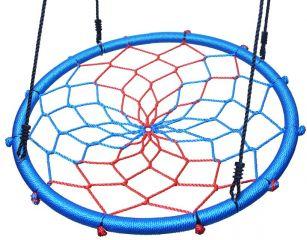 Цветные качели гнездо Капризун 100 см диаметр