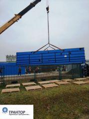 Такелажные работы, стропальные работы, перемещение котельной 36 тонн.