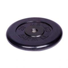 Диск обрезиненный Barbell d 31 мм чёрный 20 кг
