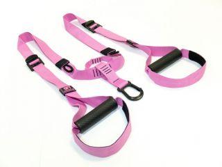 Набор петель для функционального тренинга профессиональный Original FitTools PINK UNICORN