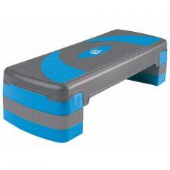 Степ-платформа Lite Weights 3-х уровневая 1810LW (79,5*30*20см, серый/голубой)