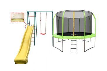 Пластиковая горка с крепежом, скат 3 метра, для Кузнечик и Элит