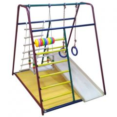Детский спортивный комплекс Вертикаль  Весёлый малыш Mini горка фанерная