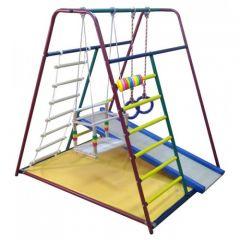 Детский спортивный комплекс Вертикаль  Весёлый малыш Mini горка ДСП с мягким бортом