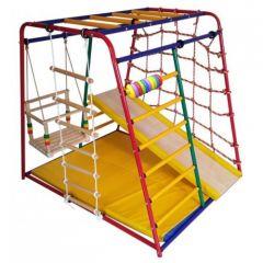 Детский спортивный комплекс Вертикаль Веселый малыш Maxi горка ДСП с мягкими бортами