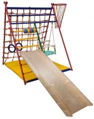 Детский спортивный комплекс Вертикаль Весёлый малыш Transformer фанерная горка