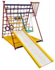 Детский спортивный комплекс Вертикаль Весёлый малыш Transformer горка ДСП с мягкими бортами