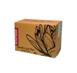 Блок для йоги трехцветный премиум в коробке OFT