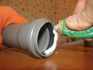 Герметизация слива воды.