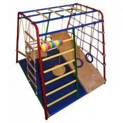Детский спортивный комплекс Вертикаль Веселый малыш Maxi с фанерной горкой
