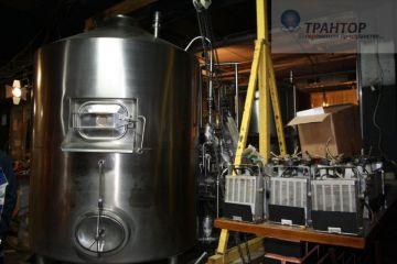 Такелажные работы, демонтаж оборудования пивоваренного производства 40 тонн.