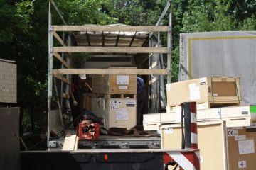 Такелаж медицинского оборудования, такелажные работы 14 тонн.