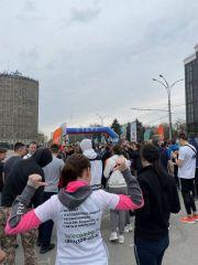 Дружно бежим долгожданный городской пробег