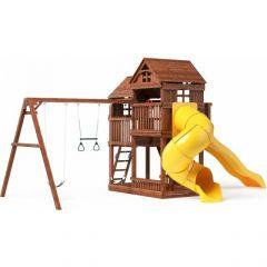 Детский игровой комплекс с трубой и горкой Можга Р955-3