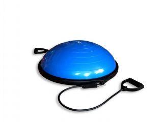 Полусфера гимнастическая надувная Original FitTools R2 с эспандерами и насосом