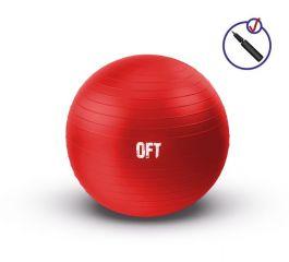Гимнастический мяч 65 см красный с насосом Original FitTools