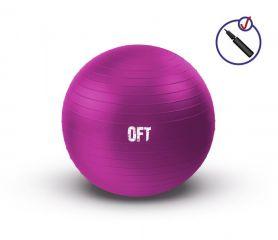 Гимнастический мяч 55 см фуксия Original FitTools