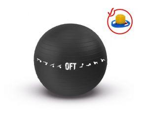 Гимнастический мяч 75 см Original FitTools для коммерческого использования черный