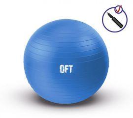Гимнастический мяч 75 см синий с насосом Original FitTools