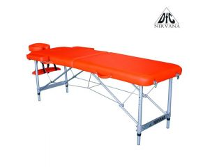 Массажный стол DFC NIRVANA, Elegant, 186х60х4 см, алюм. ножки, цвет оранжевый (Orange) TS2010_OR
