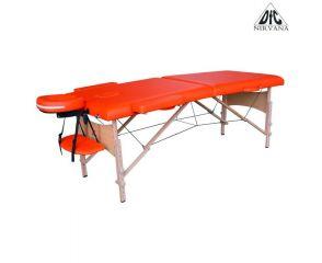 Массажный стол DFC NIRVANA, Relax, дерев. ножки, цвет оранжевый (Orange) TS20111_OR