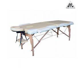 Массажный стол DFC NIRVANA, Relax, дерев. ножки, цвет бежевый + кремовый TS2021D_BC