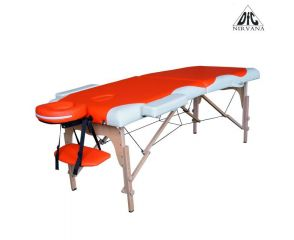 Массажный стол DFC NIRVANA, Relax, дерев. ножки, цвет оранж.крем. TS2021D_OC