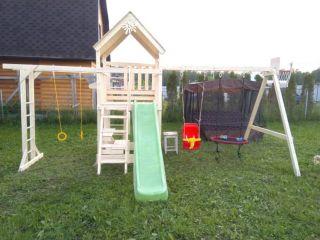 Детская площадка IgraGrad Крафт Pro 2 с качелями-гнездо 80 см